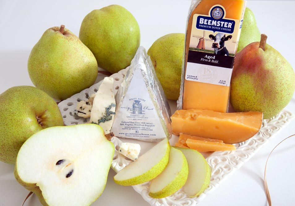 December Fruit and Cheese Club Selection