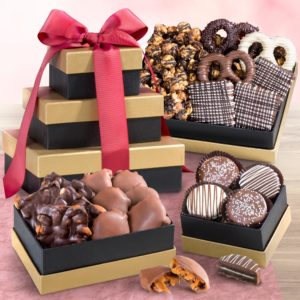 Chocolate, Caramel and Crunch Gift Tower